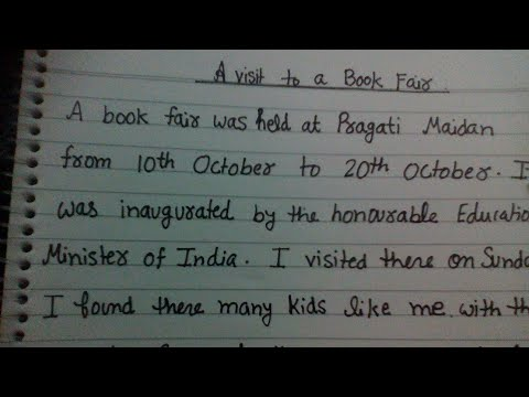 A visit to a book fair. short paragraph for kids in English.  in excellent channel by ritashu
