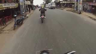 ktm duke 200 chasing ducati 848 on the way to dhulikhel with the gopro hero3 hd