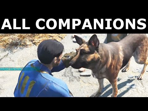 Fallout 4 - All 14 Companions - First Meeting And Conversation