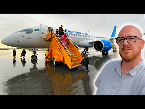 Africa's FIRST Airbus A220! Air Tanzania Business Class