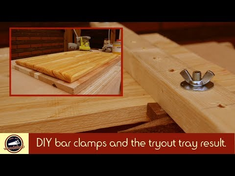 DIY Wooden Bar Clamps and a Serving Tray out of Reclaimed Pinewood | Easy Homemade | #5