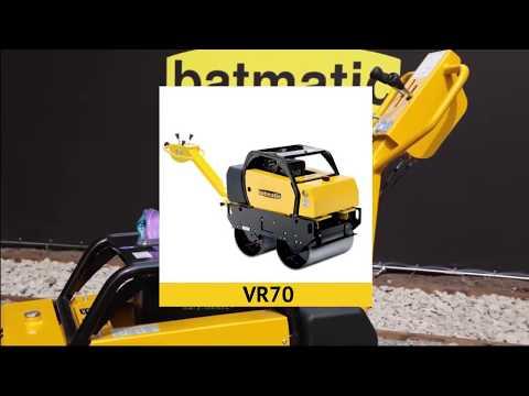 Обзор ручного двухвальцевого виброкатка Batmatic VR70 - VR22 (Батматик) - Unisol