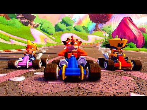 Crash Team Racing Nitro-Fueled includes Crash Nitro Kart tracks, arenas and PS4-exclusive skins