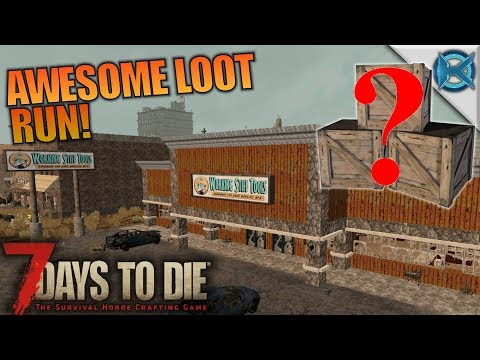 AWESOME LOOT RUN! | 7 Days to Die | Let's Play Gameplay Alpha 16 | S16.4E10