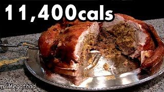 "Matt Stonie vs 15lb ""Turducken"" (11,400cals)"