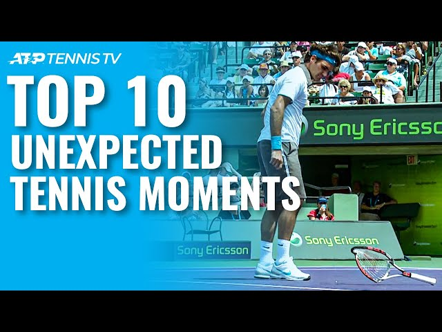 Top 10 Unexpected ATP Tennis Moments!