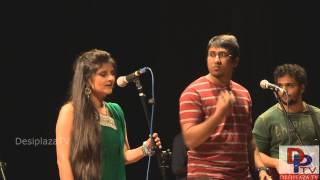 "Students singing Hindi song at UTA Indian Culture Council (ICC) event ""Swaagat"