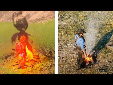 Red Dead Redemption 2 VS Zelda Breath of the Wild  Interaction & Details Comparison
