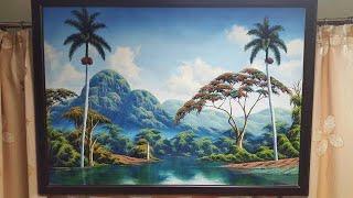 """OvLGroup - Картина """"Пейзаж Кубы"""". Масло.Холст.Куба."""