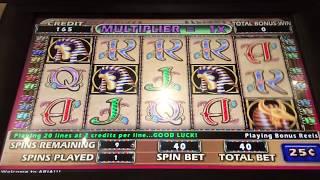 Cleopatra 2 Slot Machine High Limit $10/bet BIG WIN Aria Las Vegas