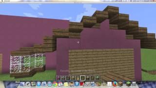 Como hacer la Casa de los Simpsons en Minecraft  (Parte 1)