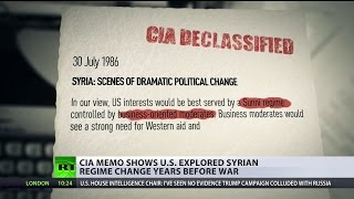 'US acting surprised' - Frmr American diplomat on declassified scenarios of Syria regime change