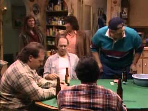 roseanne barr flips off tom arnold on roseanne sitcom