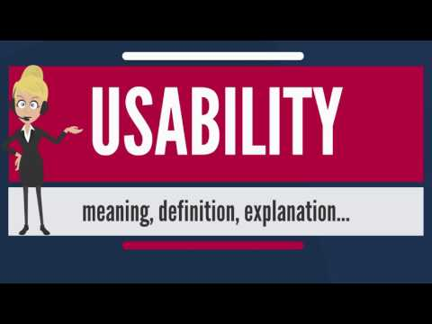 What is USABILITY? What does USABILITY mean? USABILITY meaning, definition & explanation