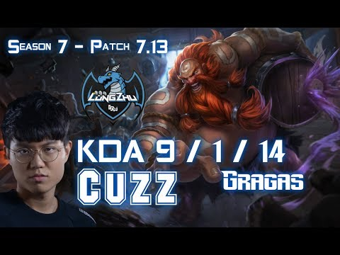 LZ Cuzz GRAGAS vs LEE SIN Jungle