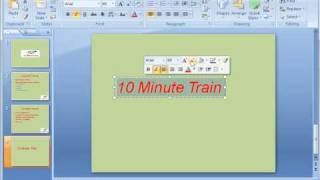 PowerPoint 2007 Tutorial 4: Formatting