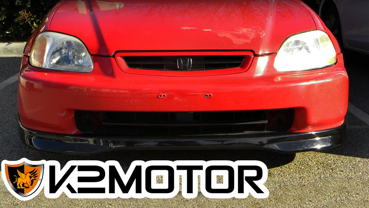K2 Motor Installation Video 1996 1998 Honda Civic Front Lip Youtube