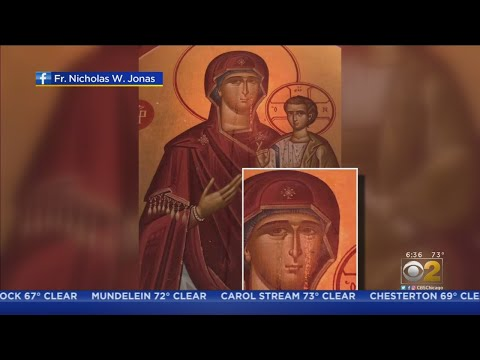 Holy Trinity Greek Orthodox Church Worshippers Flock To See 'Weeping' Virgin Mary