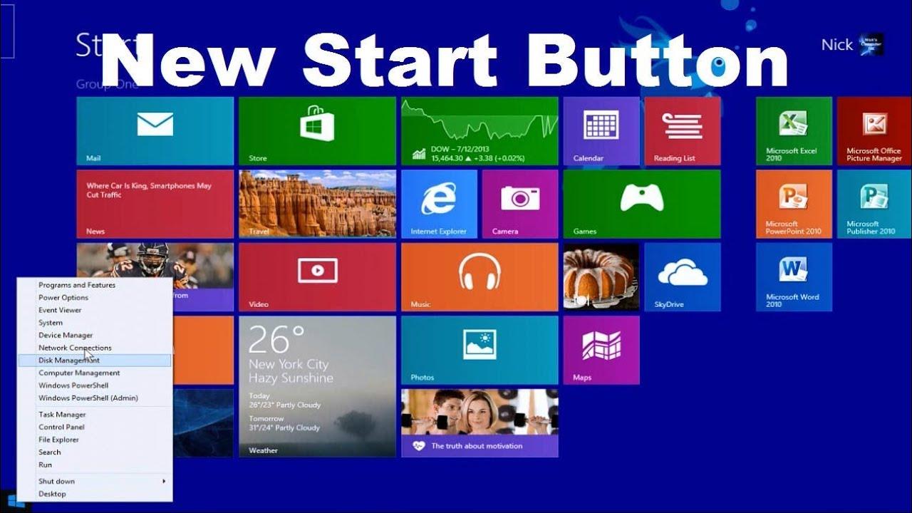 Windows 8.1 Home Button