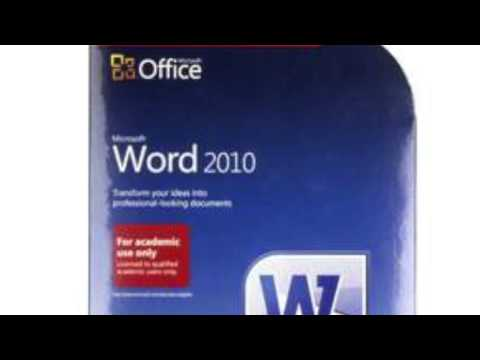 Microsoft Word 2010 PC Computer Software DVD - Windows 7, Vista & XP