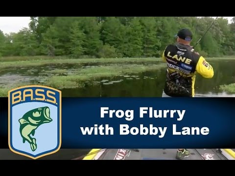 Bobby Lane catches two on a frog