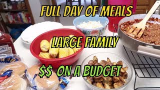 FULL DAY OF BUDGET MEALS #11 WITH RECIPES  |  LARGE FAMILY OF 9