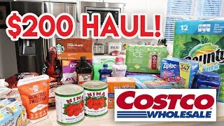 🚨 $200 COSTCO HAUL + SHOP WITH ME! ✔ STOCKING UP ON ESSENTIALS 😀