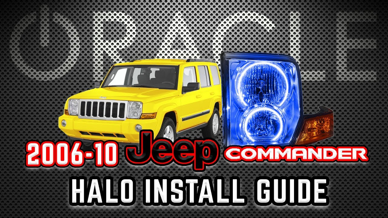ORACLE Lighting Halo Install Guide - 2006-10 Jeep Commander  sc 1 st  YouTube & ORACLE Lighting Halo Install Guide - 2006-10 Jeep Commander - YouTube