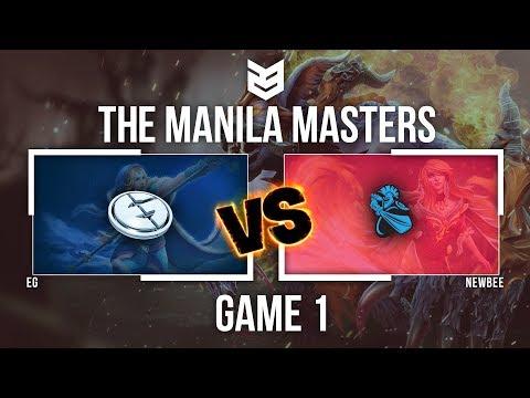 Manila Master | EG vs Newbee - Game 1 - Caster: DK