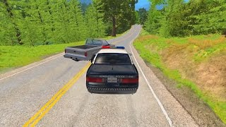 Police Chase Takedowns 5  - BeamNG.Drive Crashes