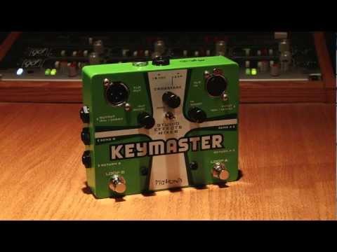 Pigtronix   Keymaster - Combine two distortion pedals!; DI, Re-Amp, Guitar Split, Mic Input...