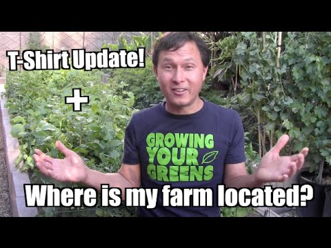T-shirt Update + Where is the location of my farm!?
