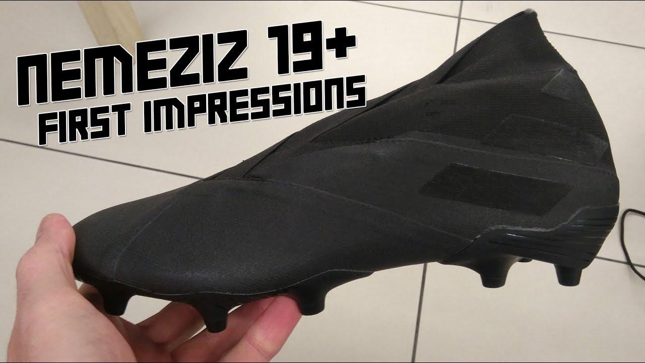 adidas NEMEZIZ 19+ blackout FIRST