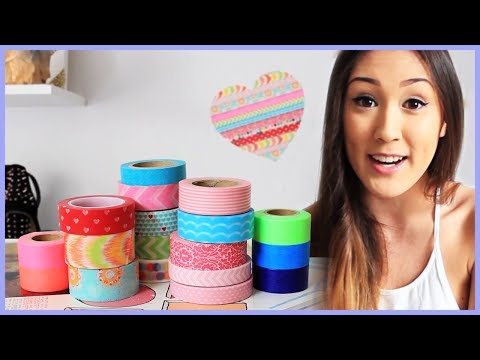 Room Decor DIY with Washi Tape - Makeup Brush Holder, Wall Decor, and Tea Lights from LaurDIY