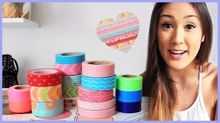Room Decor Diy With Washi Tape   Makeup Brush Holder, Wall Decor, And Tea Lights From Laurdiy