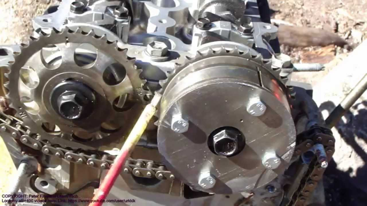 How to assemble engine VVTi Toyota Part 30: Timing chain setup and installation  YouTube