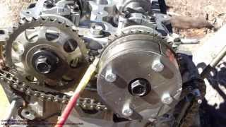 How to assemble engine VVT-i Toyota Part 30: Timing chain setup and installation