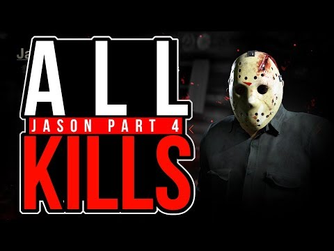 ALL JASON PART 4 WEAPON KILLS in Friday The 13th The Game PIG SPLITTER KILLS