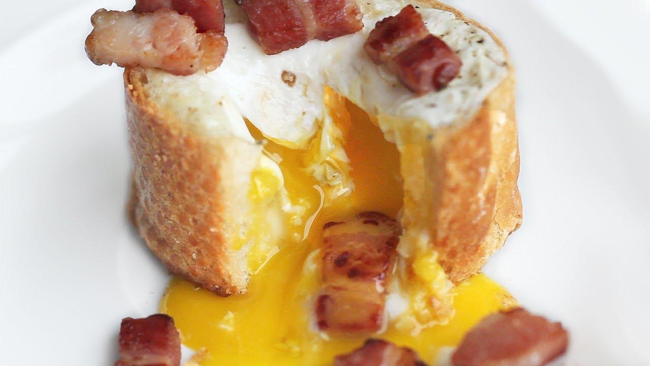 3ingredient Egg Bacon Baguette Breakfast Recipe ˰�게트 ˸�런치 ˧�들기  ͕�글 ̞�막   Youtube
