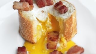 3-Ingredient Egg Bacon Baguette Breakfast Recipe
