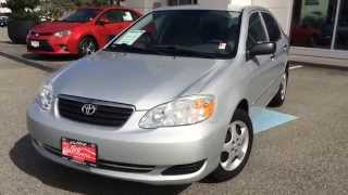 2006 Toyota Corolla Ce Preview, For Sale At Valley Toyota Scion, In Chilliwack B.c. # B1446