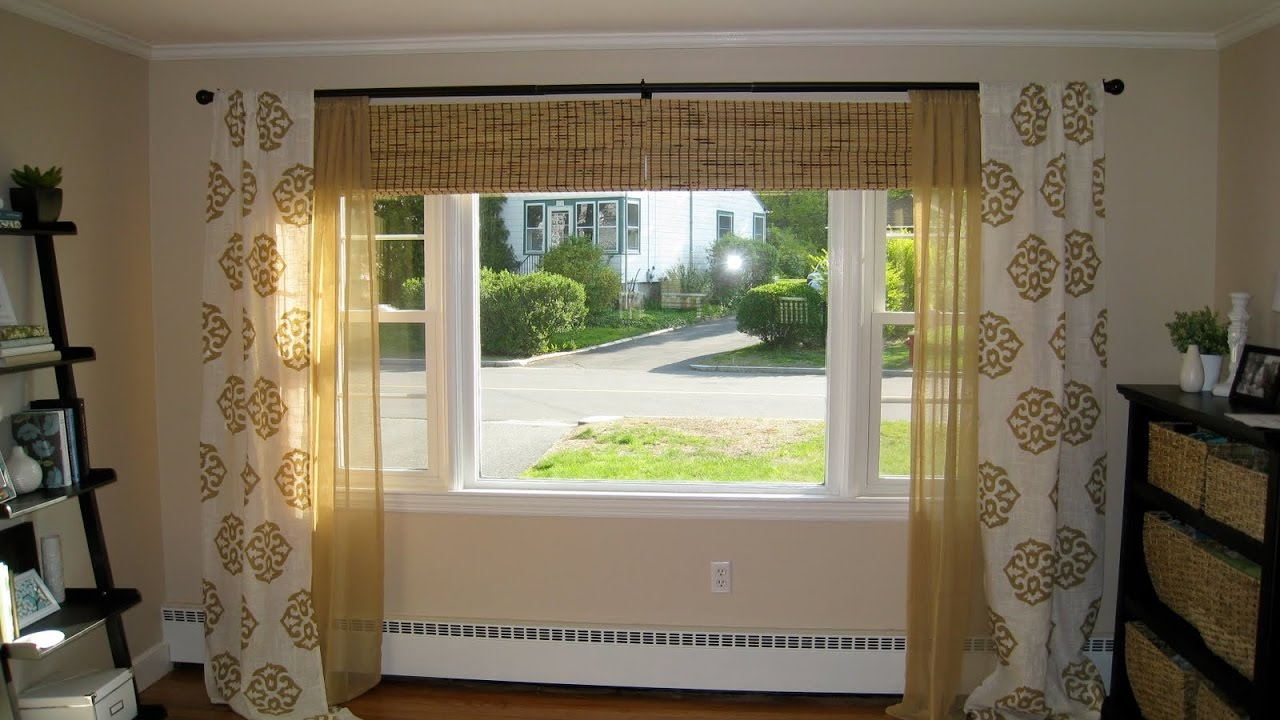 Bedroom Curtain Ideas Large Windows - YouTube