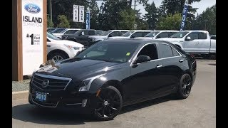2013 Cadillac ATS  Premium W/ Leather,  Heated Seats NAV Review| Island Ford