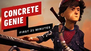The First 21 Minutes of Concrete Genie Gameplay