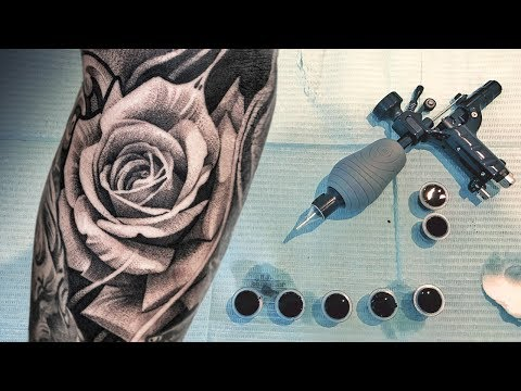 TATTOO TIMELAPSE - REALISTIC ROSE TATTOO