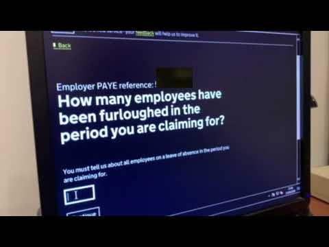 How to Complete A Furlough Claim - On-screen Walkthrough