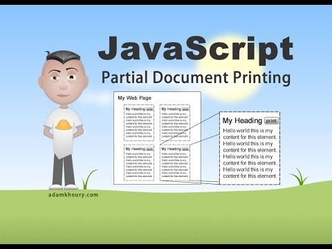Partial Print Document JavaScript Tutorial HTML Div Content