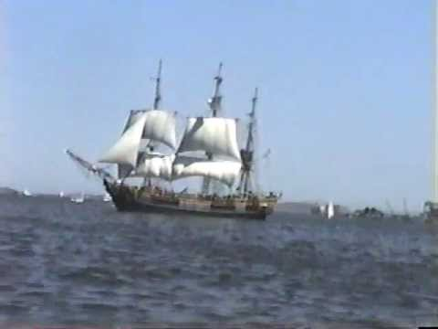 Boat ride in the Boston Harbor -  Boston Massachusetts August 1996