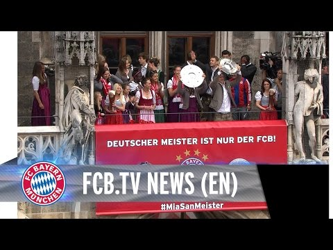 Bayern Munich celebrate 25th championship