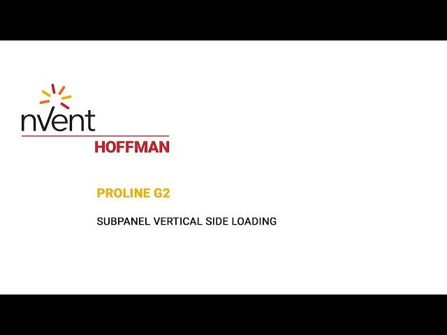 ProLine G2 Installation Video – Vertical Side Loading | nVent HOFFMAN